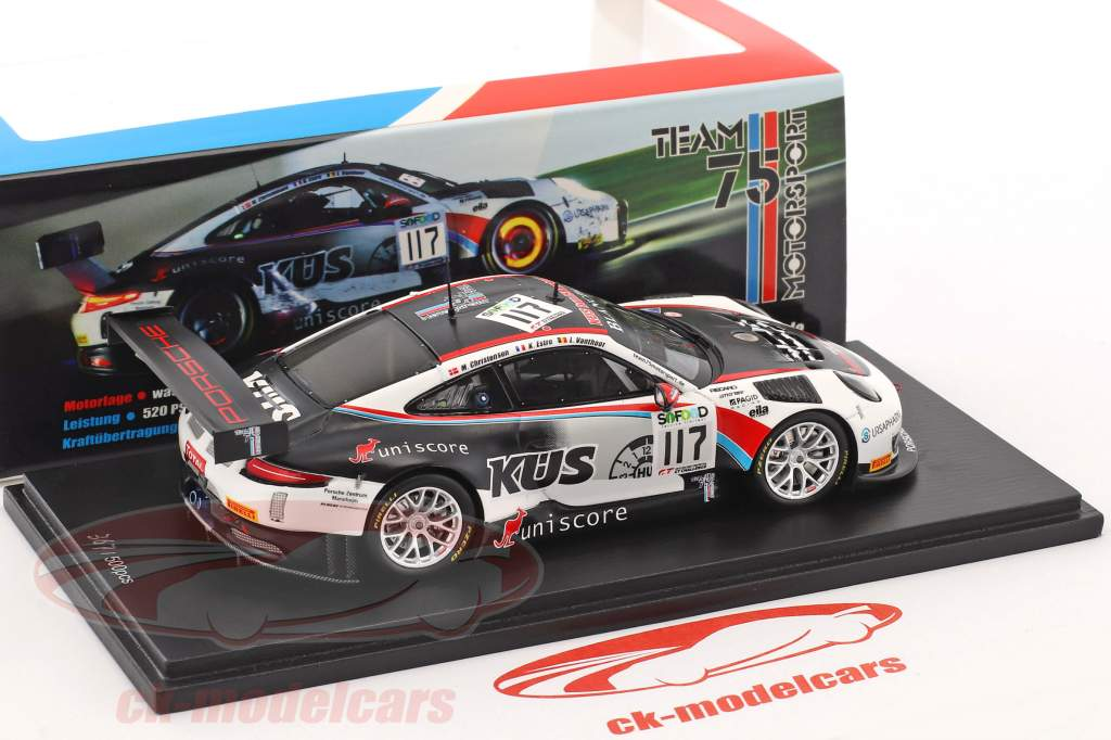 Porsche 911 (991) GT3 R #117 4 24h Spa 2017 Team Promo Edition 1:43 Spark