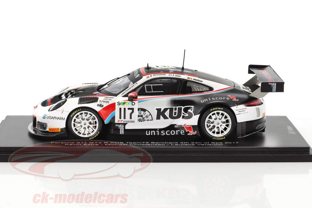 Porsche 911 (991) GT3 R #117 4th 24h Spa 2017 Team Promo Edition 1:43 Spark