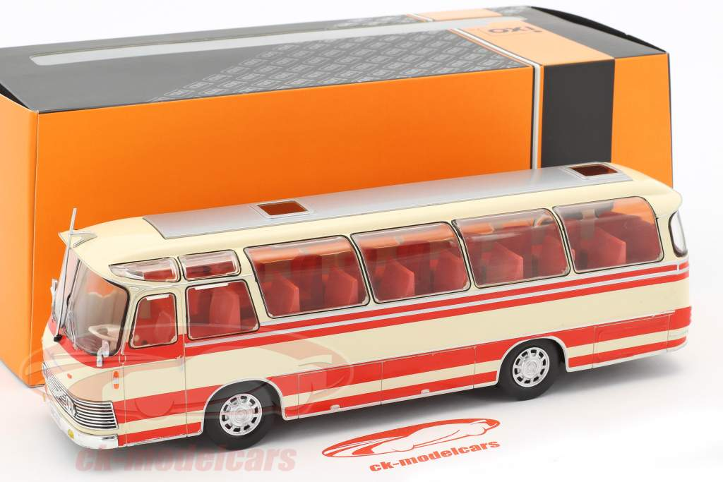 Neoplan NH 9L bus year 1964 beige / red 1:43 Ixo