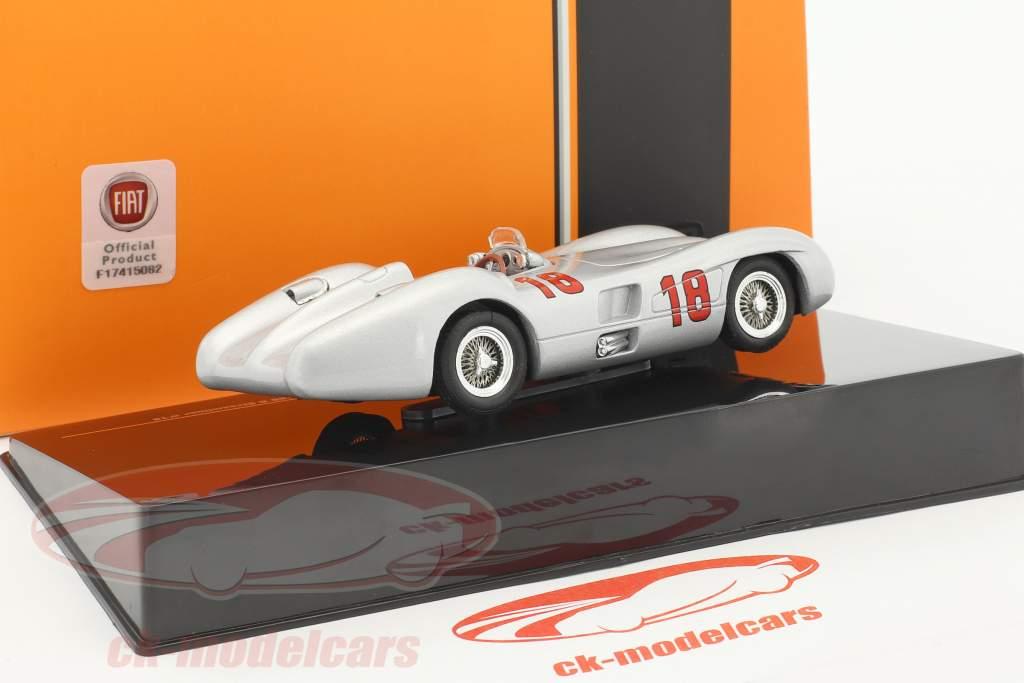 Juan Manuel Fangio Mercedes-Benz W196 R Streamliner #18 vincitore italiano GP formula 1 1955 1:43 Ixo
