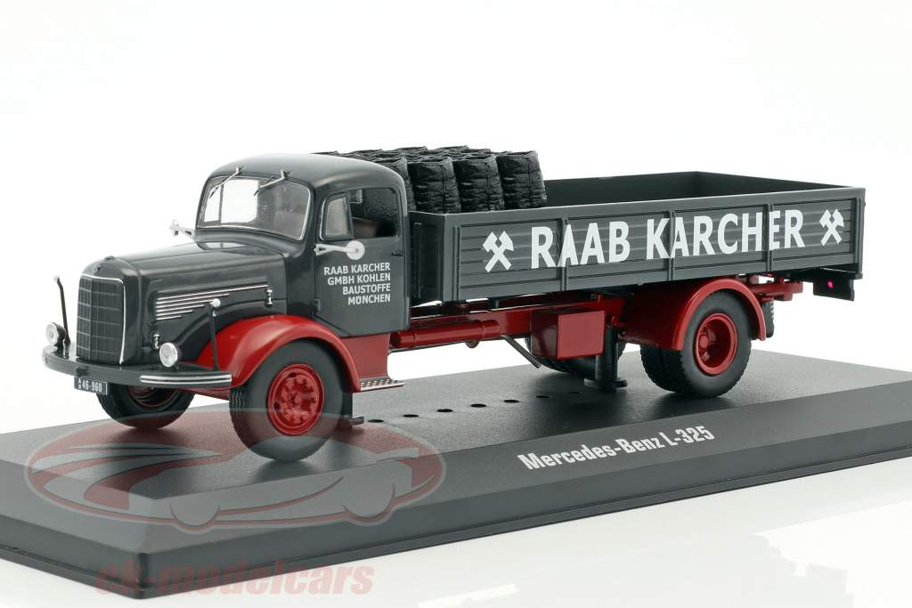 Mercedes-Benz L-325 Raab Karcher with Cargo dark gray / red 1:43 Ixo