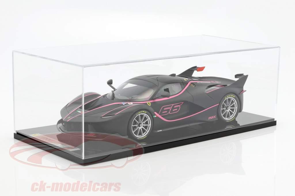 Ferrari FXX-K #66 tappetino nero / rosa 1:12 BBR