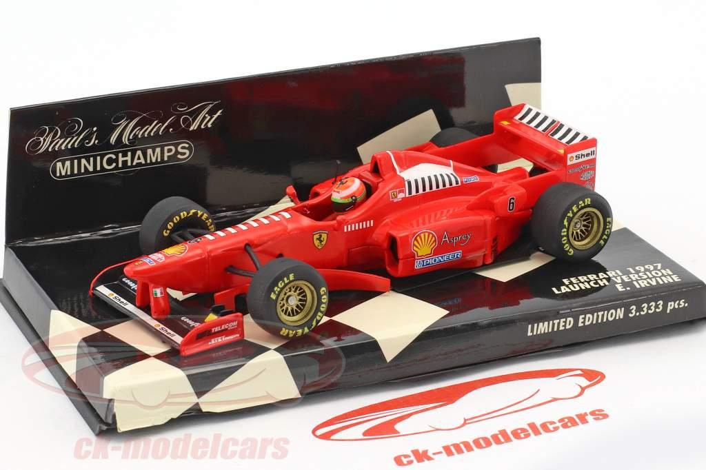 Eddie Irvine Ferrari F310B #6 formula 1 1997 Launch version 1:43 Minichamps