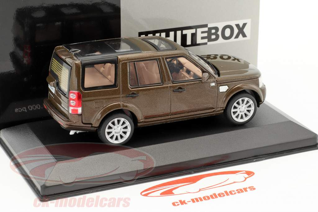 Land Rover Discovery 4 Baujahr 2010 braun metallic 1:43 WhiteBox