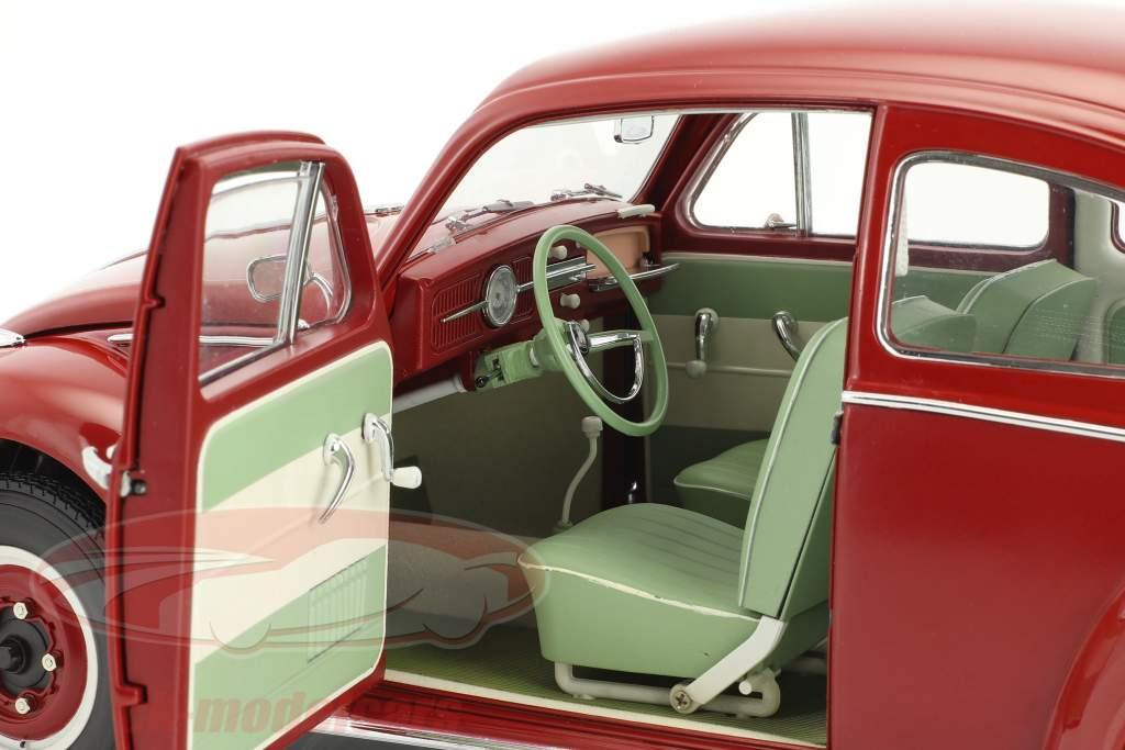 Volkswagen VW Beetle Saloon year 1961 ruby red 1:12 SunStar