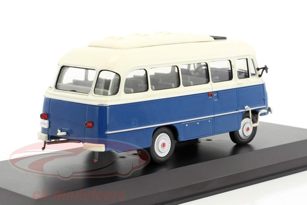 Robur LO 3000 bus year 1972 blue / white 1:43 WhiteBox