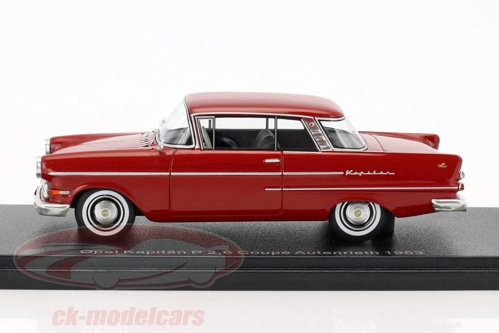 Opel Kapitän P 2,6 coupe Autenrieth anno di costruzione 1963 scuro rosso 1:43 Neo