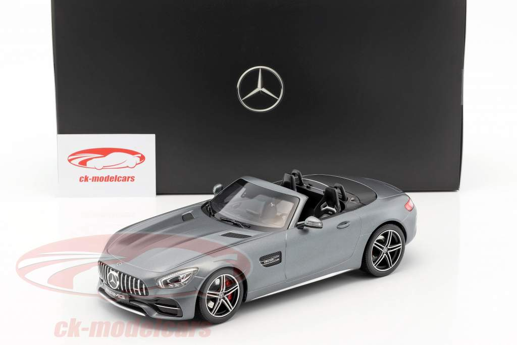 Mercedes-Benz AMG GT C Roadster year 2017 designo selenite gray magno 1:18 Norev