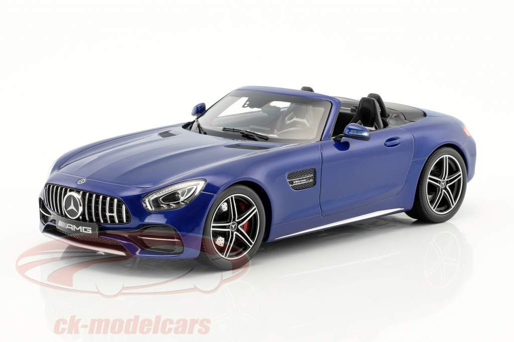 Mercedes-Benz AMG GT C Roadster year 2017 brilliant blue metallic 1:18 Norev