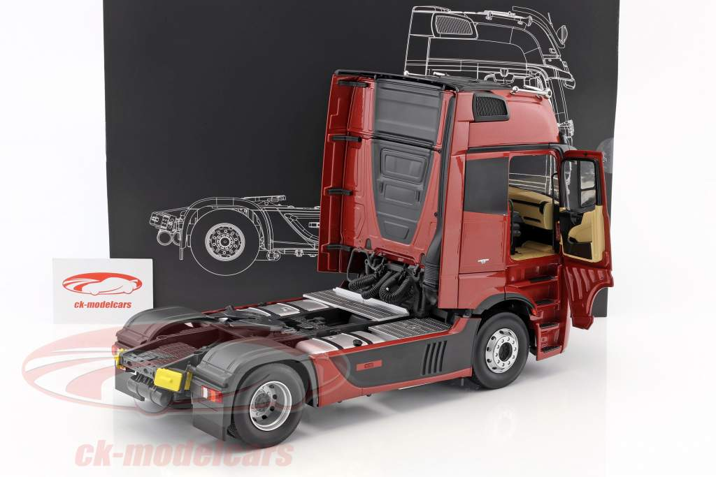 Mercedes-Benz Actros 2 Gigaspace 4x2 FH25 camion SZM scuro rosso 1:18 NZG