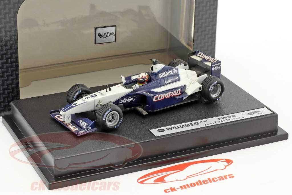 Juan Pablo Montoya Williams FW23 #6 formula 1 2001 1:43 HotWheels
