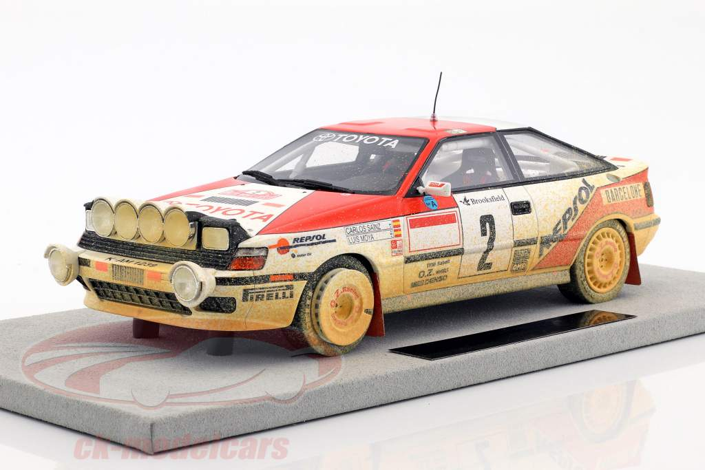 Toyota ST 165 MC Dirty version #2 Winner Rallye Monte Carlo 1991 Sainz, Moya 1:18 TopMarques