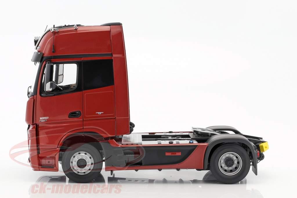 Mercedes-Benz Actros 2 Gigaspace 4x2 FH25 camion SZM sombre rouge 1:18 NZG