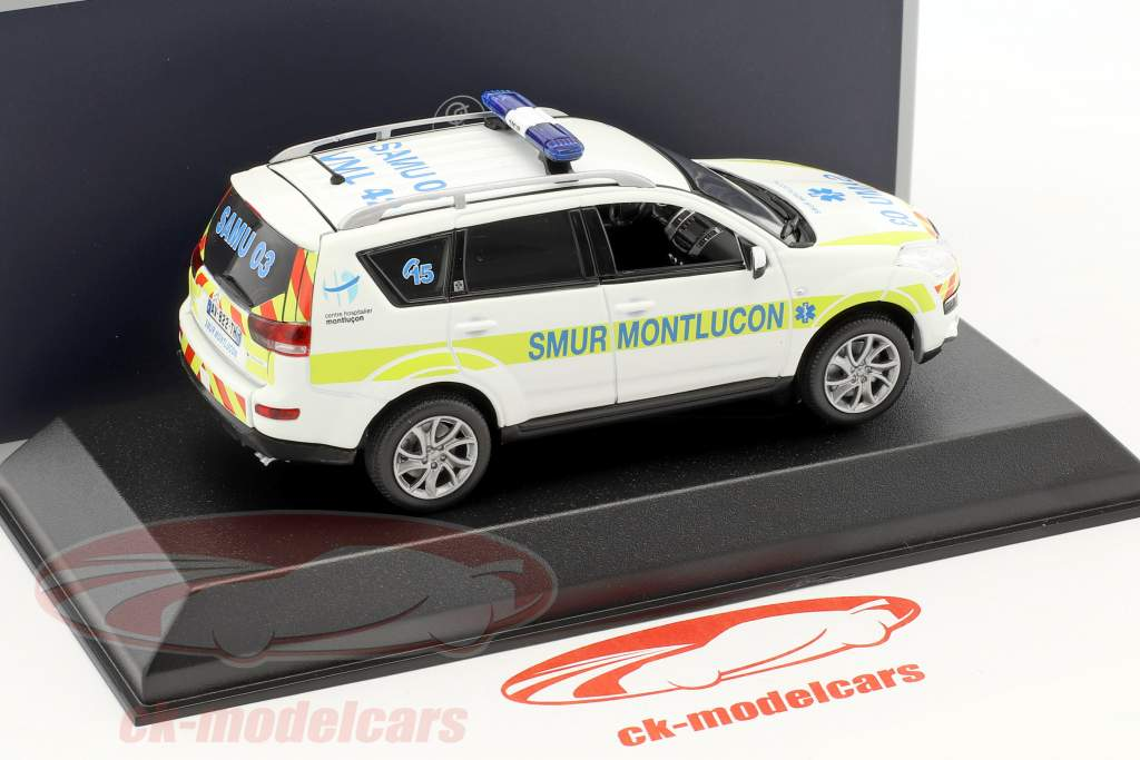 Citroen C-Crosser ambulance SMUR de Montlucon année de construction 2011 blanc 1:43 Norev