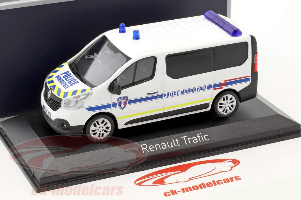 Renault Trafic Police Municipale year 2014 white / blue 1:43 Norev