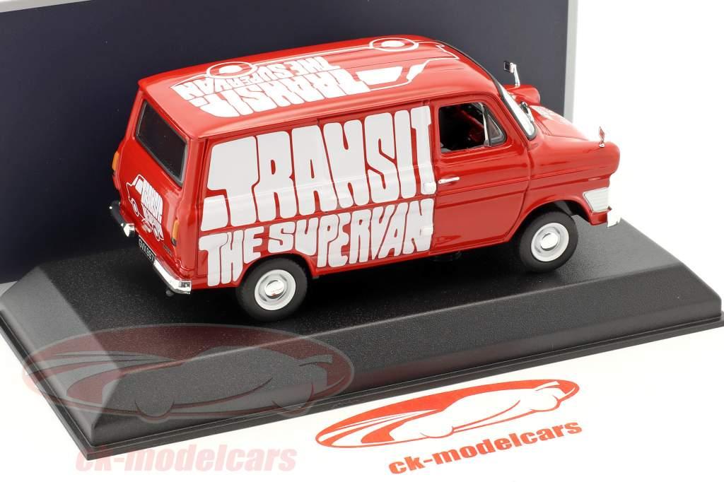 Ford Transit Van year 1965 red 1:43 Norev
