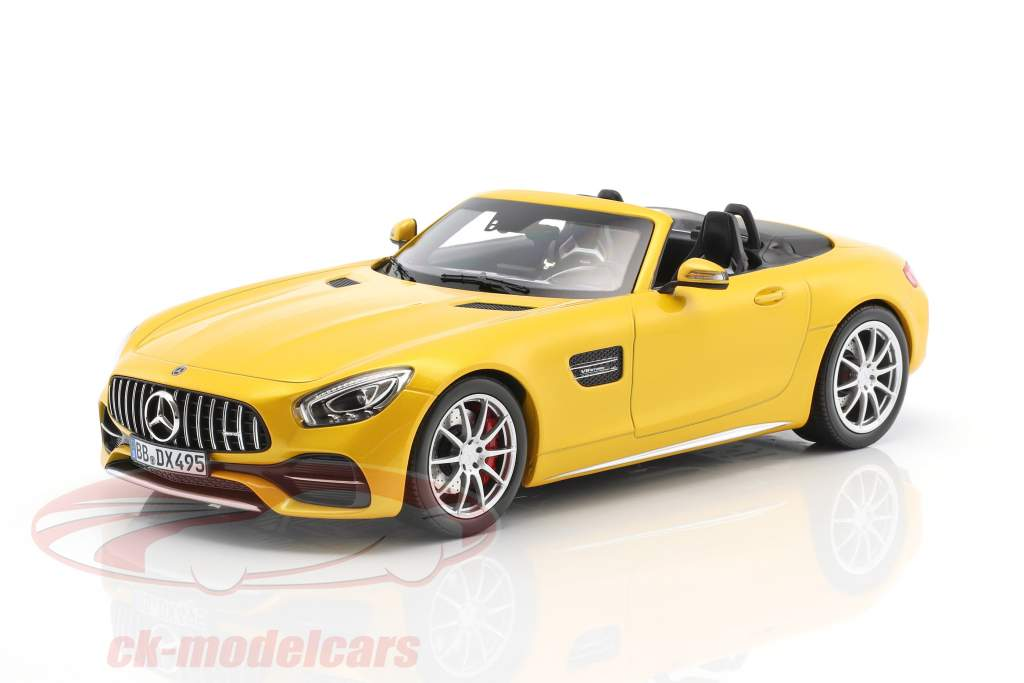 Mercedes-Benz AMG GT C Roadster year 2017 yellow metallic 1:18 Norev