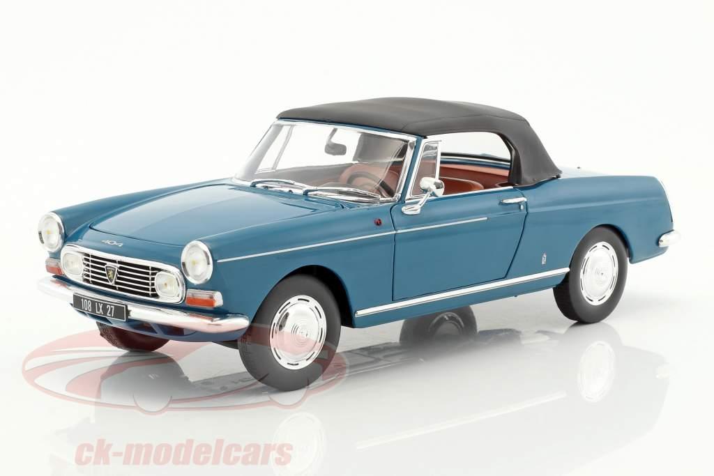 Peugeot 404 cabriolet anno di costruzione 1967 mendoza blu 1:18 Norev