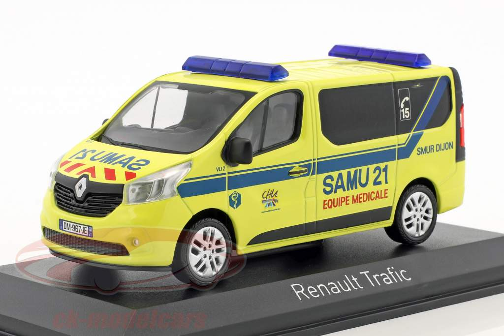 Renault Trafic SAMU year 2014 yellow / blue 1:43 Norev