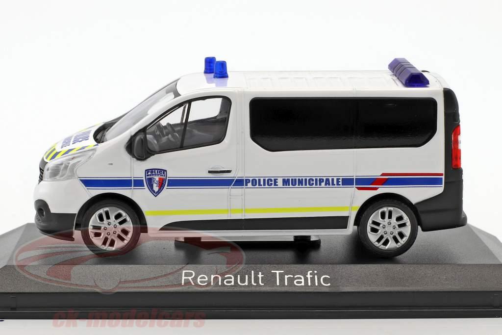 Renault Trafic Police Municipale anno di costruzione 2014 bianco / blu 1:43 Norev
