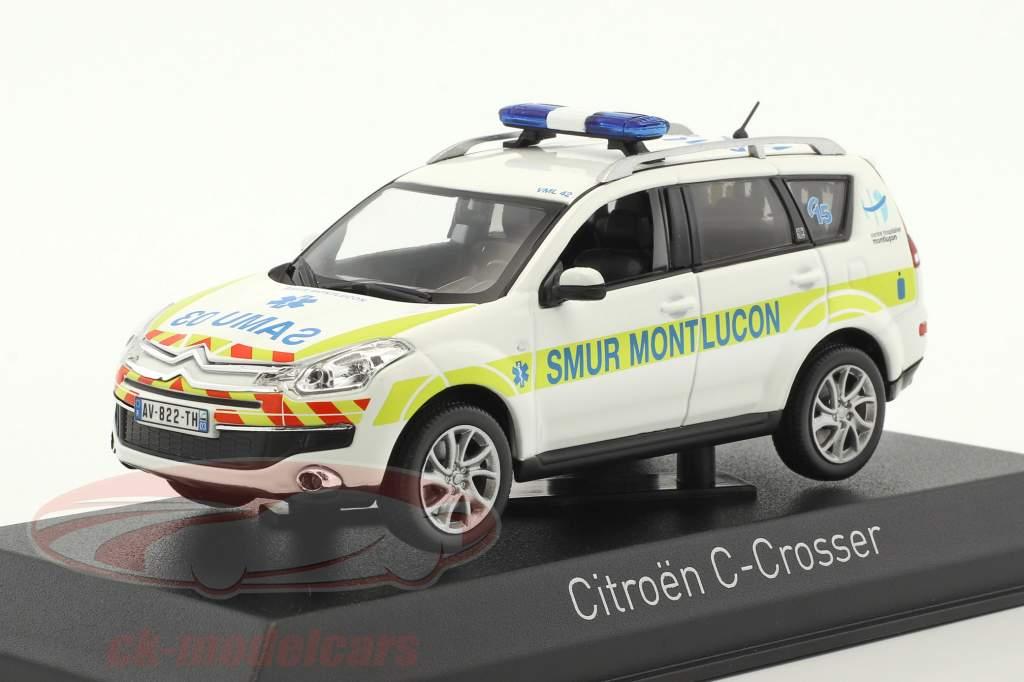 Citroen C-Crosser Ambulance SMUR de Montlucon Baujahr 2011 weiß 1:43 Norev