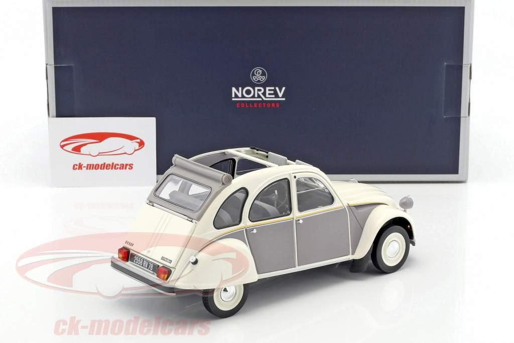 Citroen 2CV Dolly year 1985 white / gray 1:18 Norev