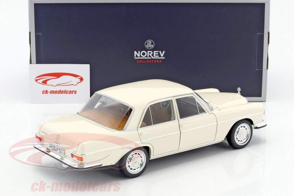 Mercedes-Benz S-Klasse 280 SE year 1968 ivory 1:18 Norev