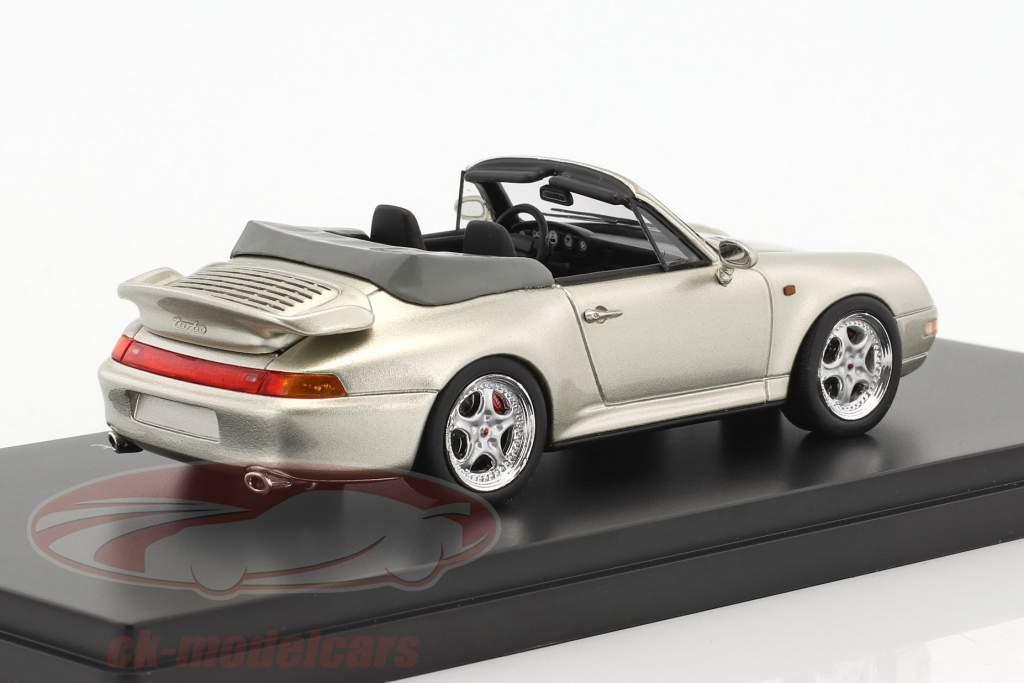 Porsche 911 (993) Turbo cabriolet gris argenté métallique 1:43 Schuco