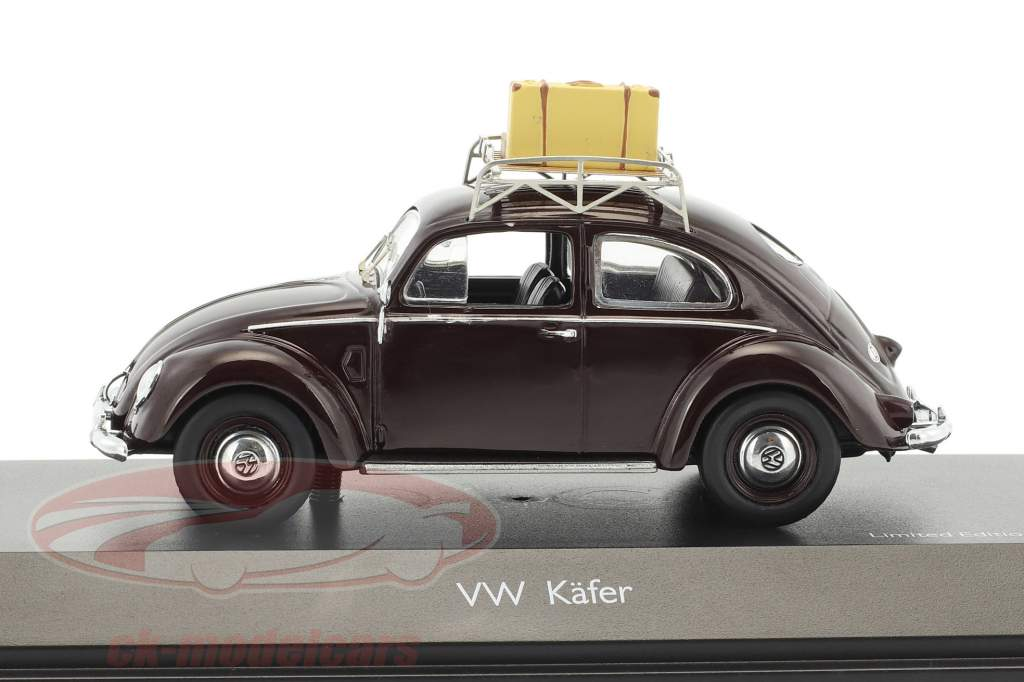 Volkswagen VW Brezelkäfer estate 1951 scuro marrone 1:43 Schuco