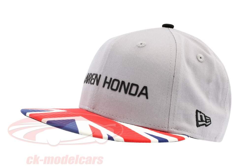 McLaren Honda Formel 1 2017 Alonso & Vandoorne Special Edition Großbritannien Cap grau S/M