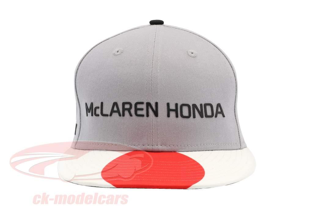 McLaren Honda formula 1 2017 Alonso & Vandoorne Special Edition Japan Cap Gray M/L
