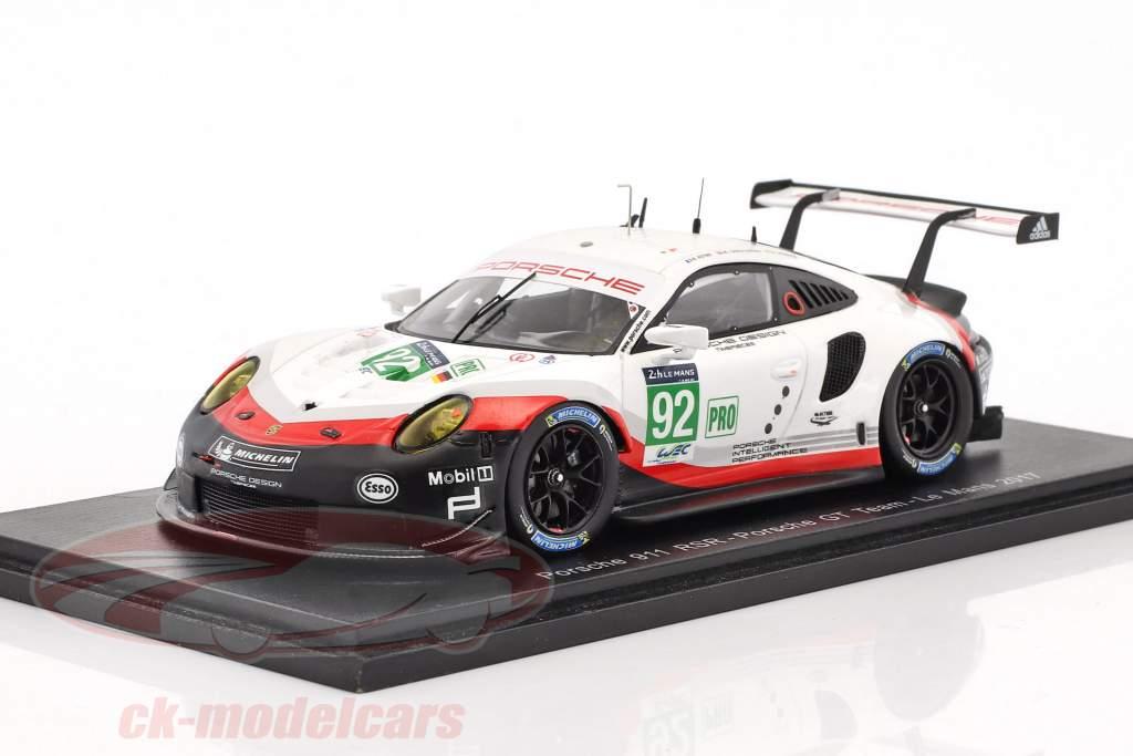 Porsche 911 RSR #92 24h LeMans 2017 Christensen, Estre, Werner 1:43 Spark