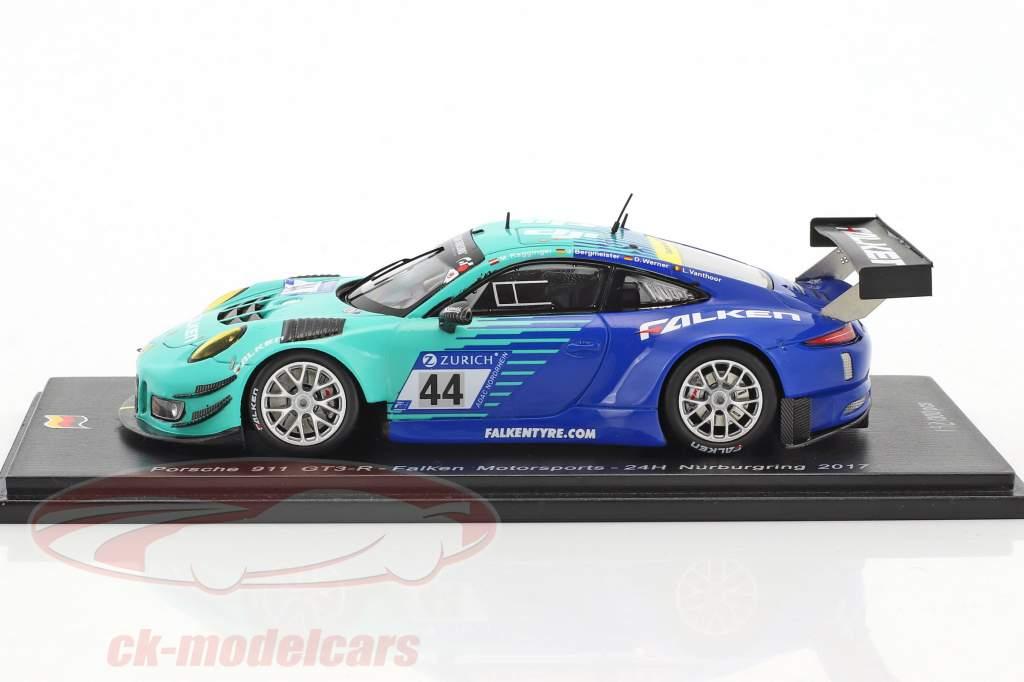 Porsche 911 GT3 R #44 24h Nürburgring 2017 Falken Motorsports 1:43 Spark
