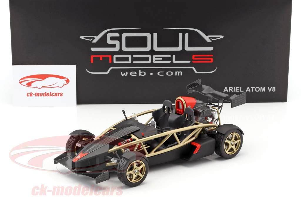 Ariel Atom V8 gold / black 1:18 Soul Models