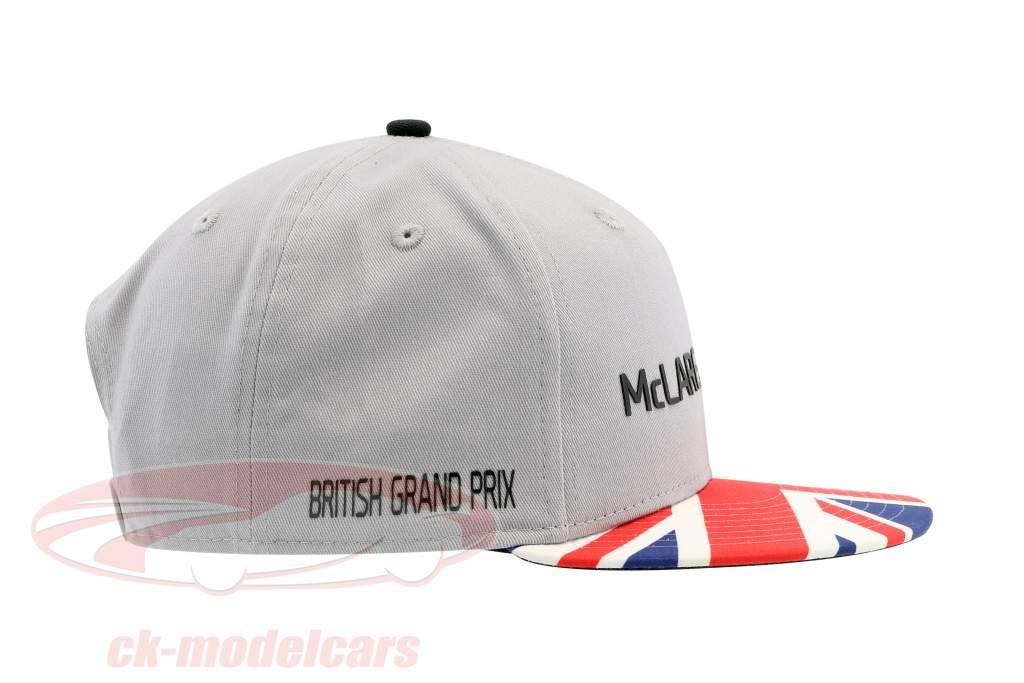 McLaren Honda formule 1 2017 Alonso & Vandoorne Special Edition grande-Bretagne Cap gris S/M