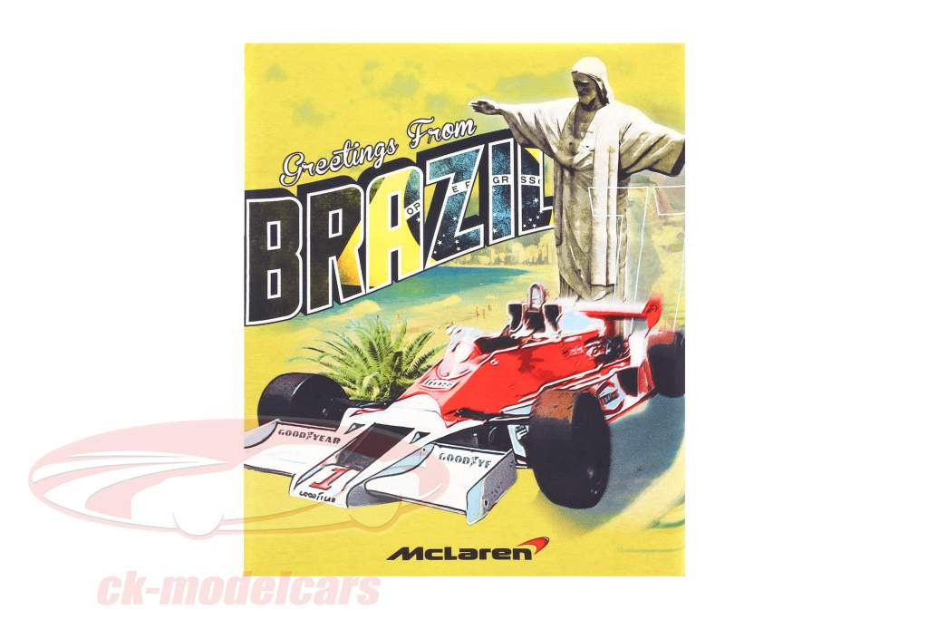 McLaren Greetings from Brazil James Hunt McLaren M23 Maglietta giallo