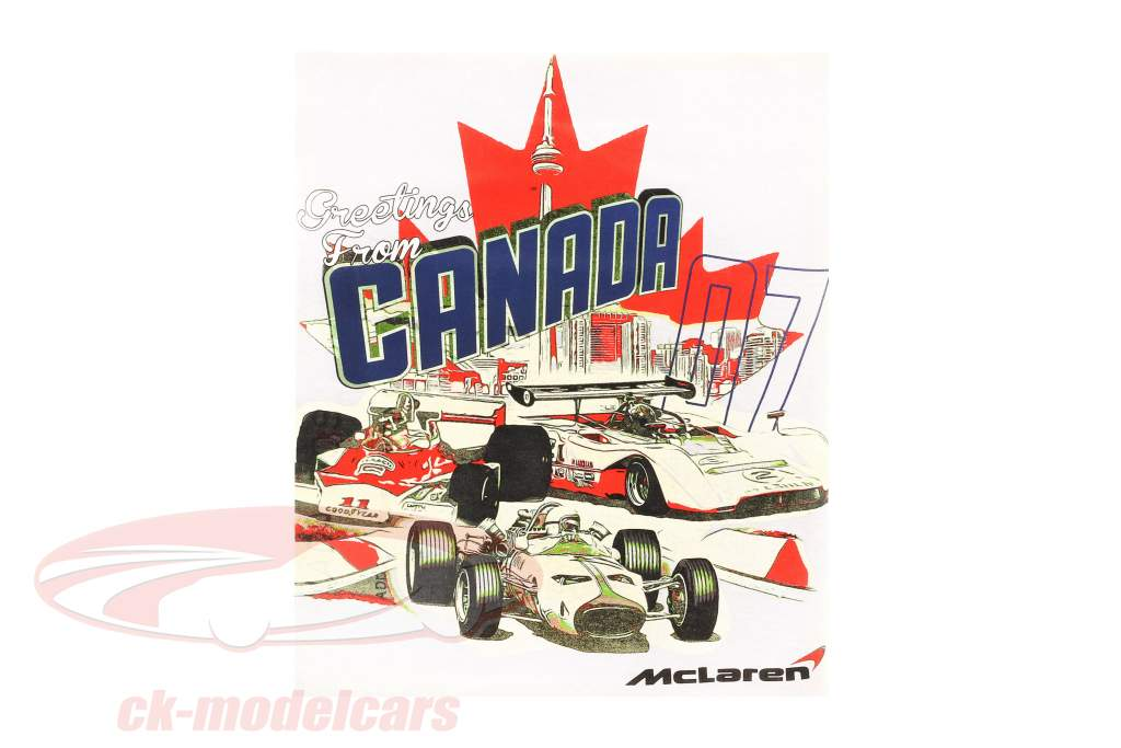 McLaren Greetings from Canada T-Shirt weiß
