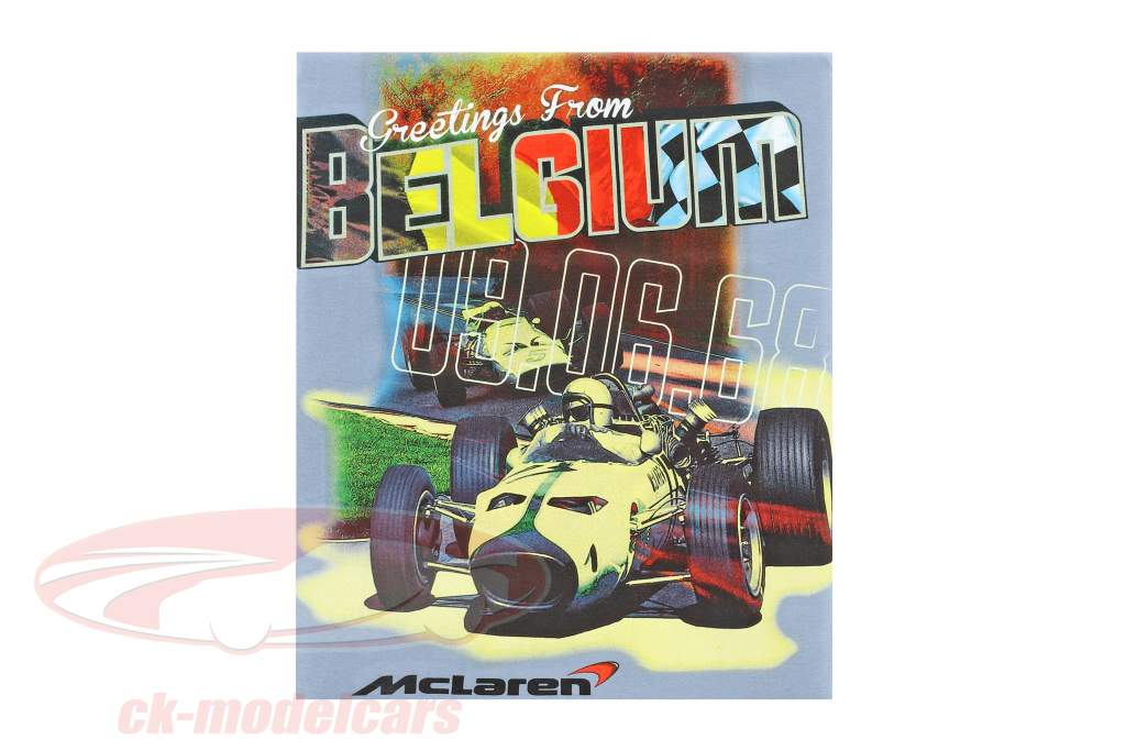 McLaren Greetings from Belgium T-shirt bleu clair