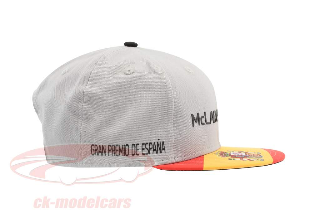 McLaren Honda formula 1 2017 Alonso & Vandoorne Special Edition Spagna Cap grigio S/M