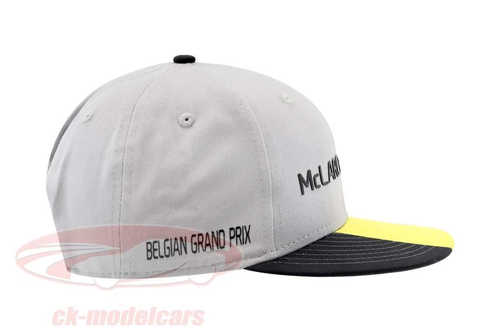 McLaren Honda formule 1 2017 Alonso & Vandoorne Special Edition Belgique Cap gris S/M