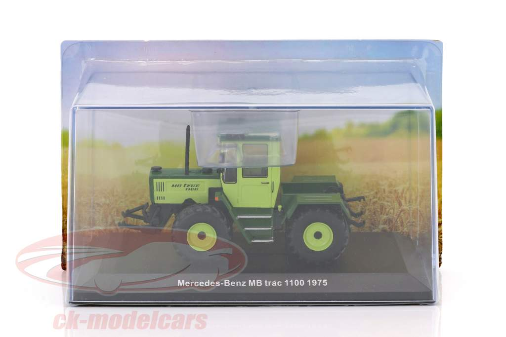 Mercedes-Benz MB Trac 1100 year 1975 lime / dark green 1:43 Hachette