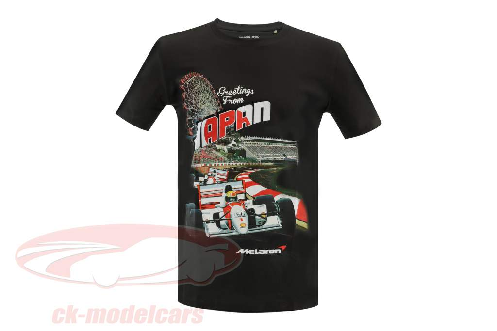 McLaren Greetings from Japan Ayrton Senna F1 1993 T-shirt noir