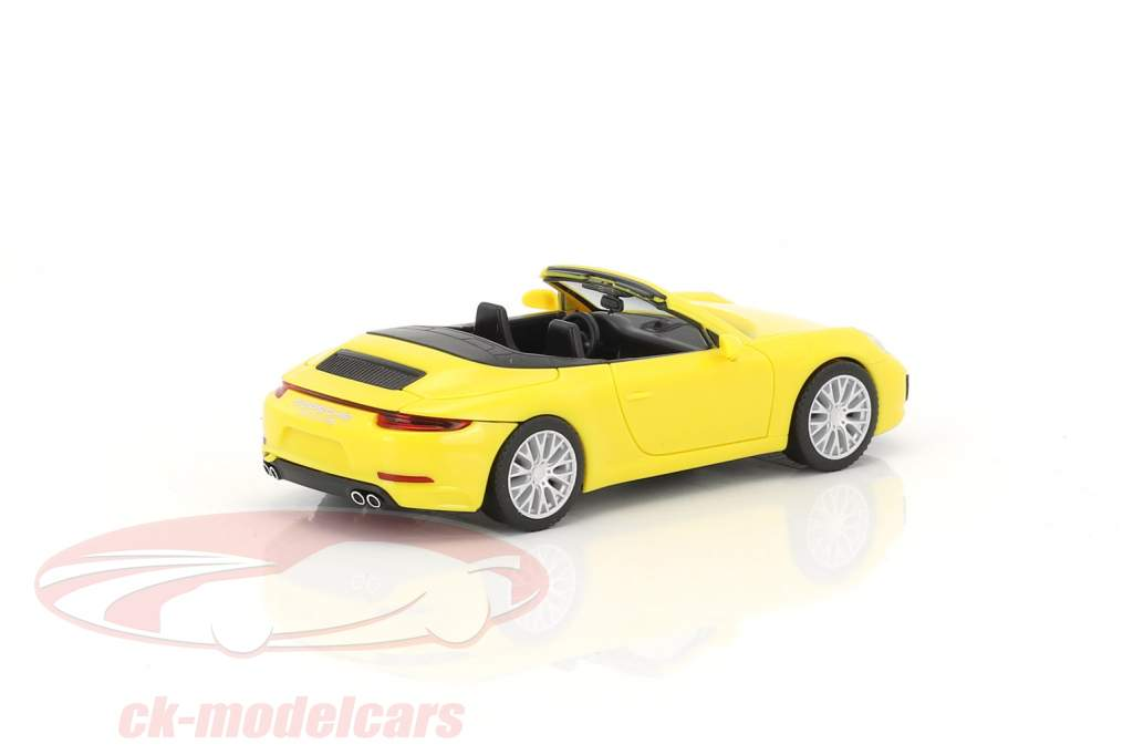 Porsche 911 (991) Carrera 4S Convertible racing yellow 1:87 Herpa