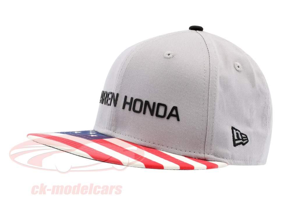 McLaren Honda Formel 1 2017 Alonso & Vandoorne Special Edition USA Cap grau M/L