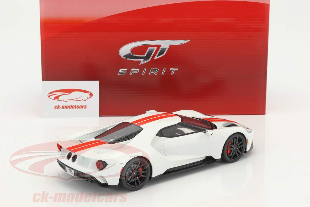 Ford GT year 2017 white 1:18 GT-Spirit
