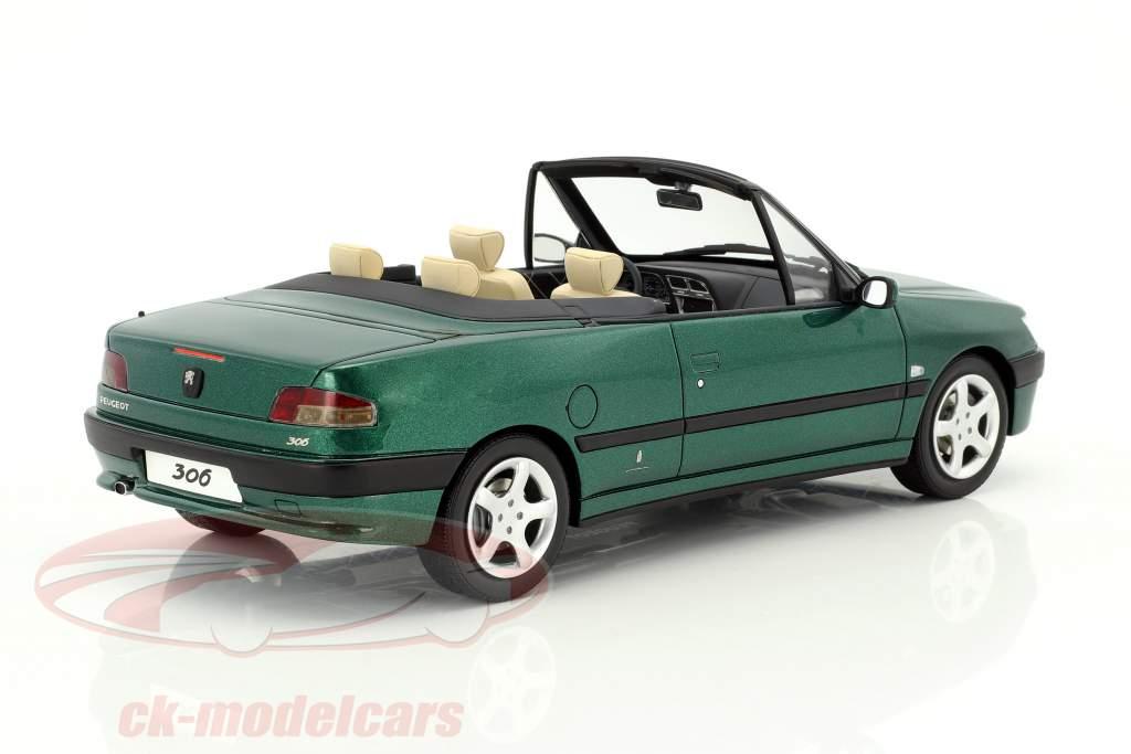 Peugeot 306 cabriolet Roland Garros anno di costruzione 1999 verde metallico 1:18 OttOmobile