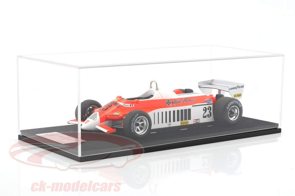 Bruno Giacomelli Alfa Romeo 179 #23 Germany GP F1 1980 with showcase 1:18 LookSmart