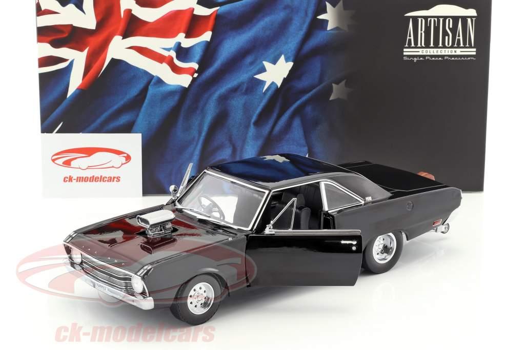 Chrysler Valiant VF Drag Car année de construction 1969 noir 1:18 Greenlight