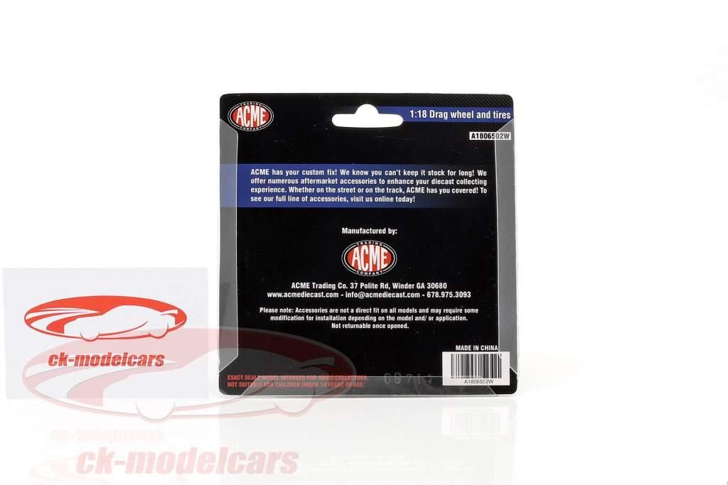 Drag Wheel and Tire Set 1:18 GMP