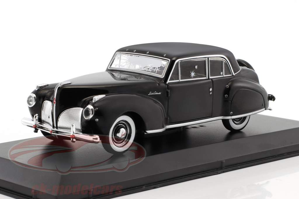 Lincoln Continental with Bullet Whole Damage film The Godfather 1972 nero 1:43 Greenlight